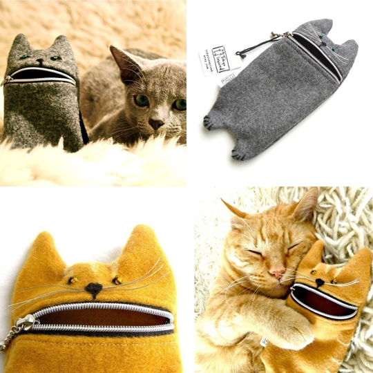 Hungry Kitty Zipper Cases by Tokyo Inspired