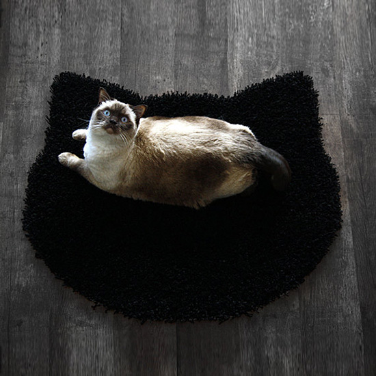 Cat Head Rug from Purrfidious