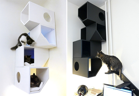 Modern Cat Climbing Furniture from Catissa