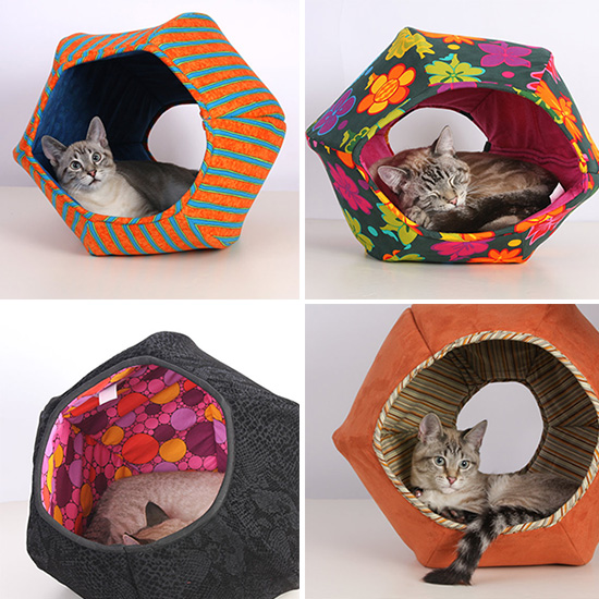 The Cat Ball Handmade Hideaway Cat Bed