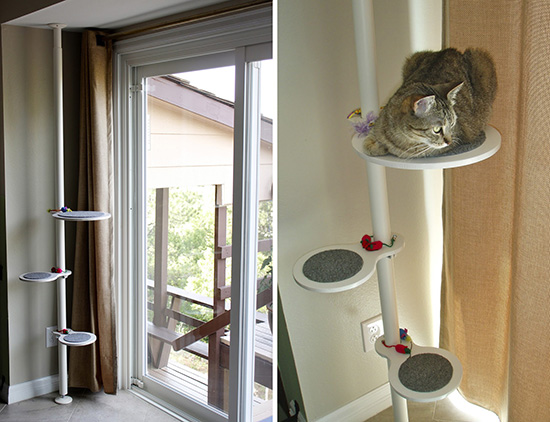 Ikea Hack Cat Climbing Pole DIY Cat Climbing Shelves