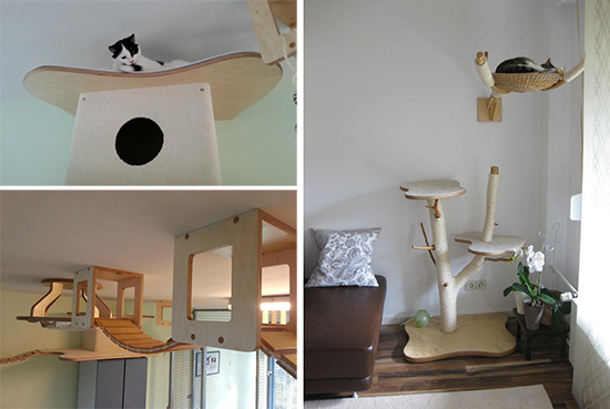 Amazing german designed cat climbing furniture hauspanther - Sofas para gatos ...