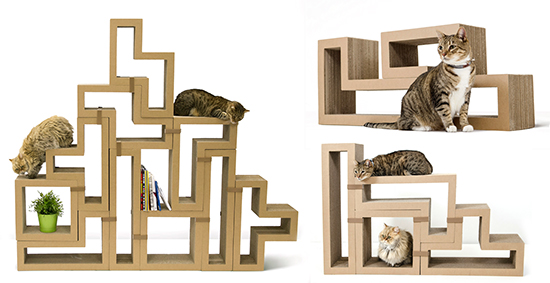 Introducing Katris Modular Cardboard Cat Furniture