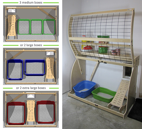 Garage Enclosure Plans : New pet outhouse offers a stylish solution for litter box