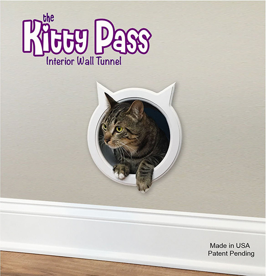 New kitty pass interior wall tunnel cat door hauspanther - The kitty pass interior cat door ...
